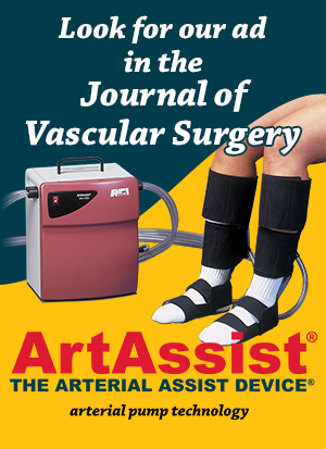 Look for the ArtAssist device in the Journal of Vascular Surgery